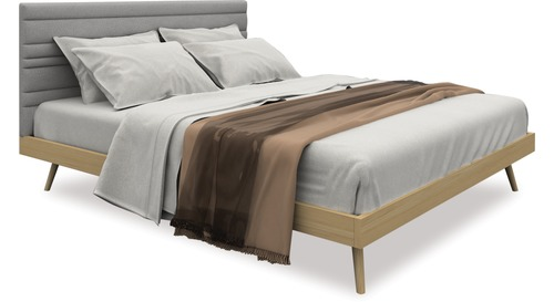Sail Slat Bed Frame & Headboard - Queen
